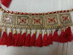 Metal Jewel Set (Red & Golden)