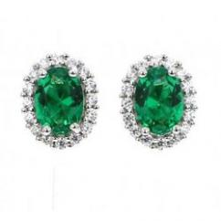 Green Colour Stone Earrings