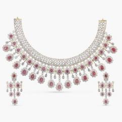 Expensive CZ Jewellery Necklace Set