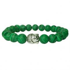 Natural Malachite Buddha Bracelet