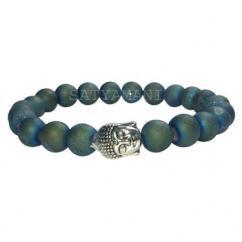 Druzy Agate Buddha Bracelet
