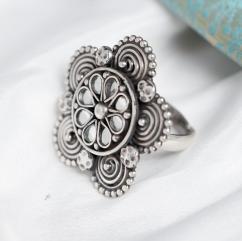 Stylish Oxidised Silver Rings