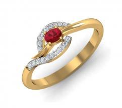 Gemston Gold Ring for girl