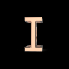 Alphabet I Charm