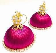 Silk Thread Jhumka In Ultimate Color