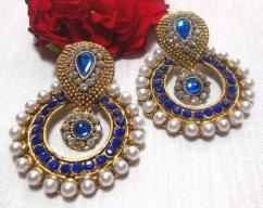 Earrings With Blue Stones Available