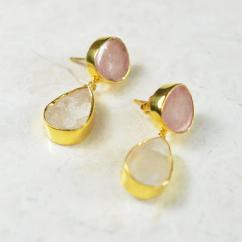 Lovely Small Earrings With Stones