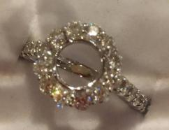 Very Lovely Ring With American Diamond Available