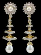 Designer Earrings With American Diamond Available