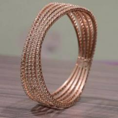 Copper In Color Kada Cum Bracelet Available