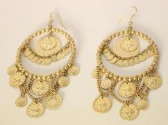 Golden Artificial Earrings In Beautiful Design