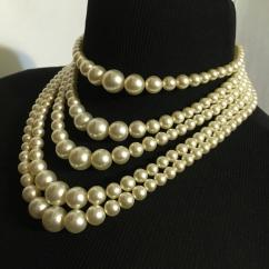 Simple And Elegant Pearl Neckset