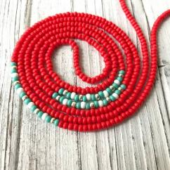 Waist Chain With Red Beads Available