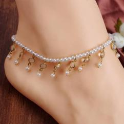 Designer Pearl Anklet Available