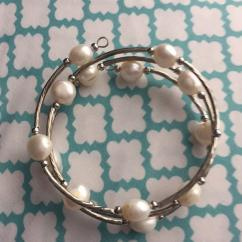 Pearl Bracelet In Elegant Pattern Available