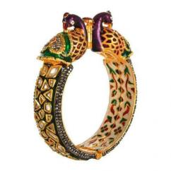 Designer Kada With Kundan Available