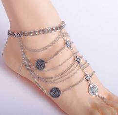 Multilayer Metallic Anklet Available