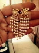 Very Lovely Earrings With Moti Available
