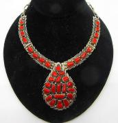 Beautiful Necklace With Red Stones