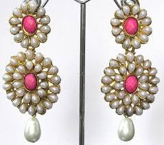 Beautiful Moti earrings available