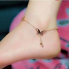 Designer Anklet with butterfly design