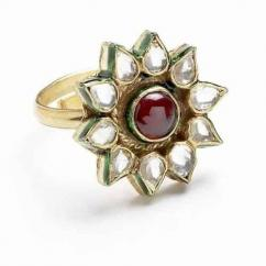 Kundan ring in lovely design