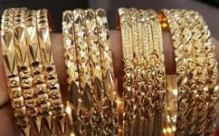gold plated bangles in different designs