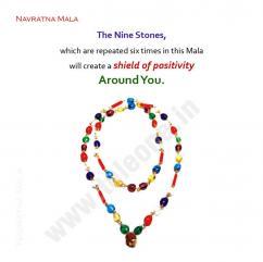 Navratan Mala,Navratna Gemstone Mala,Nine Gemstones Mala