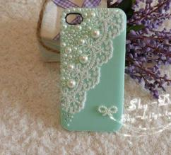 Light blue in color mobile cover