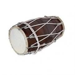 Solid Wooden Dholak In Ultimate Condition