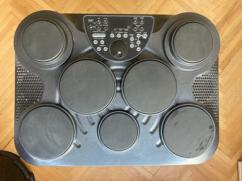 Electronic drum kit with custom stand