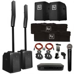 2 ElectroVoice Evolve 50 Portable Column PA Systems