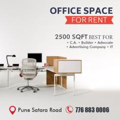 500sqft  to  2000 sqft  Offices  For  Rent  Near  Swargate