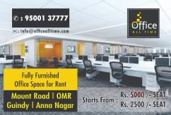 plug & play 10 seaters office space available at mount road