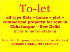 3bhk floor for rent in builder floor in chattarpur
