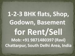 1 room set for rent in chattarpur