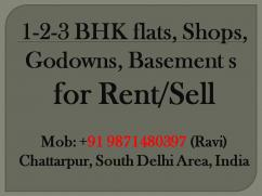 1bhk 2bhk 3bhk flat for rent in chattarpur