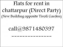 all type furnished or non-furnished flat  for rent in chattarpur