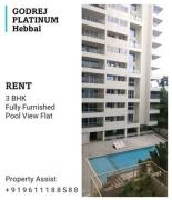 Godrej PLATINUM FULLY FURNISHED 3 BHK Flat for RENT