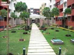 Purva Fairmont Semi Furnished 3 BHK flat for RENT