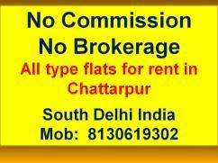 3bhk floor for rent in builder floor in chattarpur