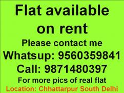 1bhk floor for rent in chattarpur location pleasecall
