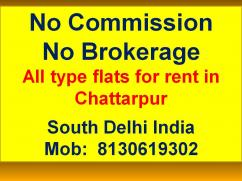 2 bhk flat in chattarpur by owner