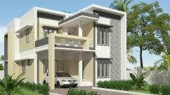 modern house in thrissur