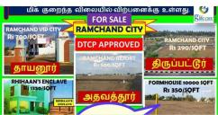 Plots for sale in trichy 9659107754