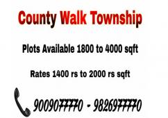 1800 sqft plot resale in county walk block