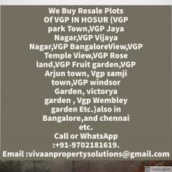vgp vijay nagar resale plots we buy and also other plot of vgp