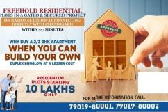 Freehold residential plots with immediate Possession near Chandigarh, Starting f