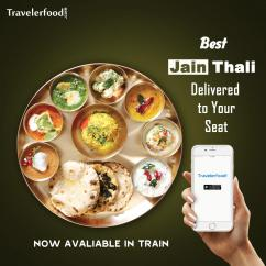Food delivery in train at Udaipur City Railway station