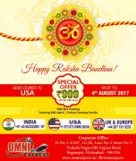 Celebrate Raksha Bandhan with your brother International Courier Services